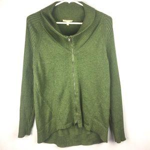 Eileen Fisher Zip Up Sweater.